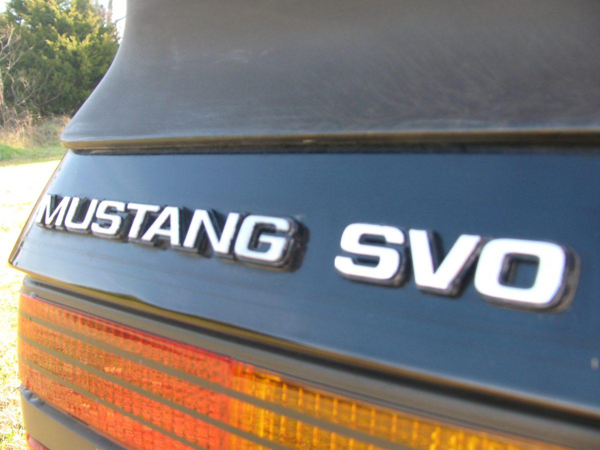 Mustang SVO Trunk